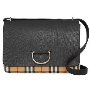 Burberry Medium Vintage Black D-Ring Bag